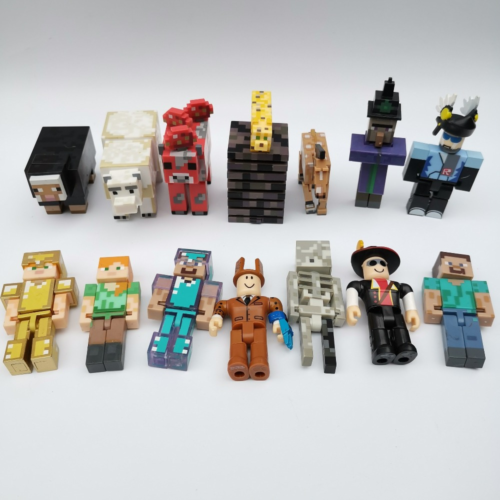 10pcs/lot Minecrafted Blocks Toy Dolls Action Figures Figures Birthday Toys Children Anime Model Set Random