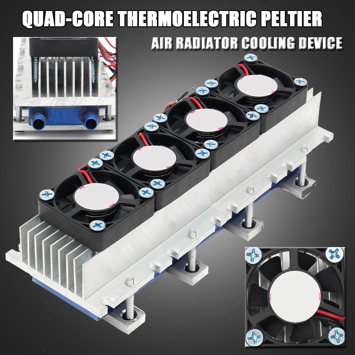 288 Вт термоэлектрический Пельтье вентилятор для охлаждения DC12V полупроводниковые кондиционер охлаждения Системы DIY Kit для кондиционера