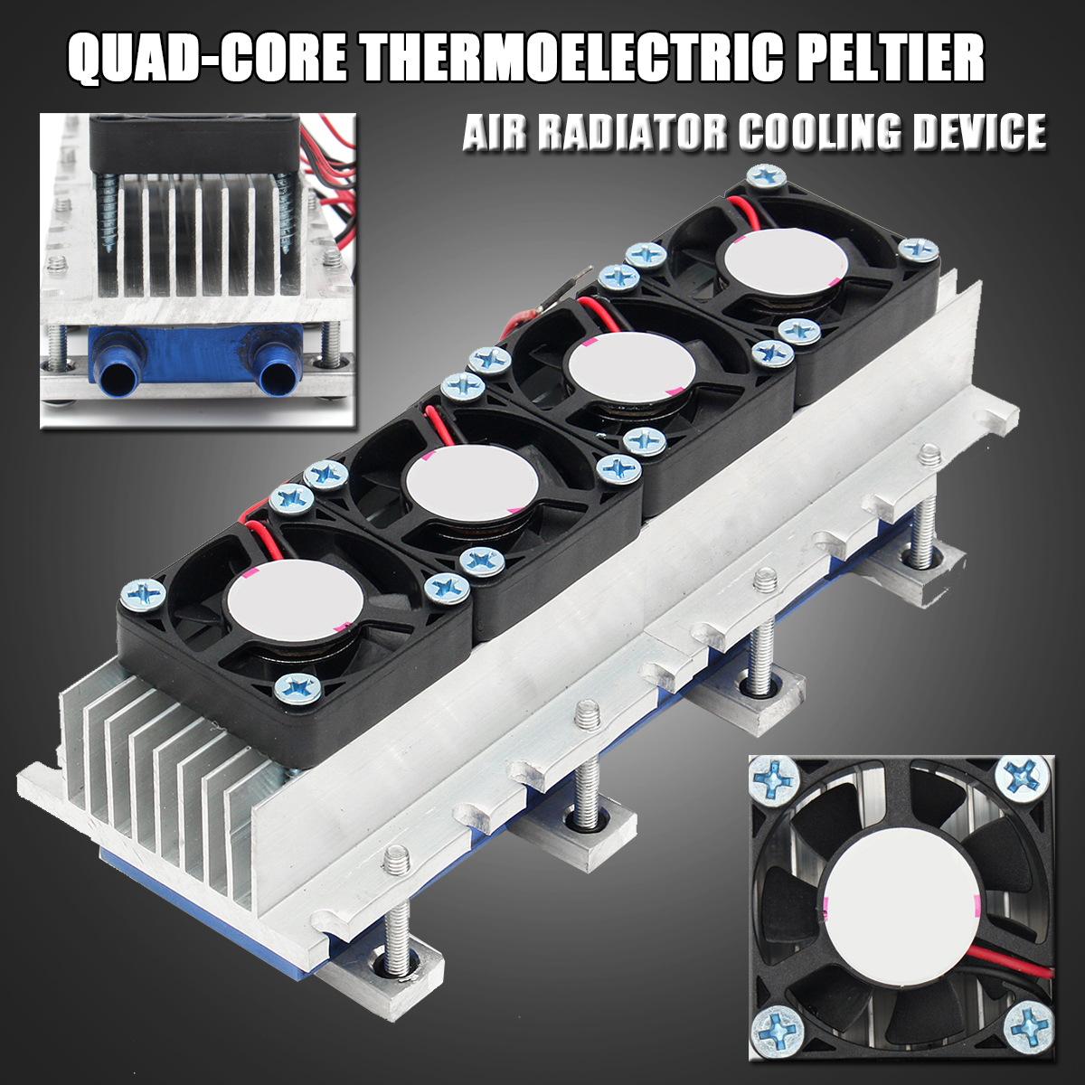 288 w Thermoélectrique Peltier Réfrigération Refroidisseur DC12V Semiconductor Climatiseur Système De Refroidissement DIY Kit Pour Climatiseur