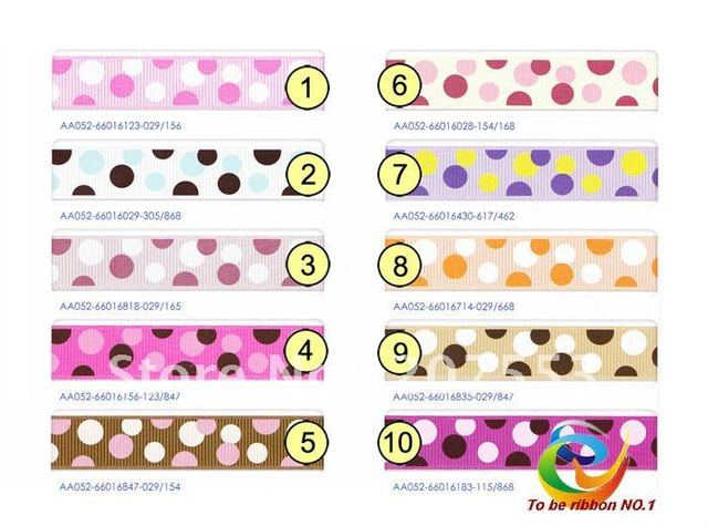 "Brand New 5/8"" Special Dots Grosgrain Ribbon WY-066-2 ~ 2 color Semicircle Free Shipping"