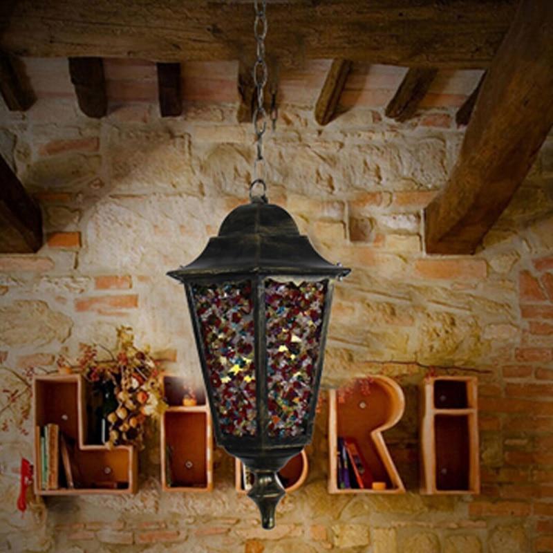 Araña de café café Pueblo americano lámpara de araña de - Iluminación interior