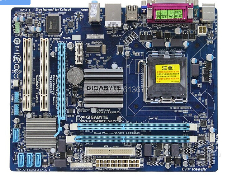 Free shipping 100% original motherboard for Gigabyte GA-G41MT-S2PT  DDR3  LGA 775  G41MT-S2PT Desktop Boards серьги polina selezneva серьги ps by polina selezneva
