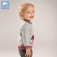 DB5902デイブベラ秋幼児ベビー男の子綿プルオーバーセーター素敵な服幼児子供ニットセーター