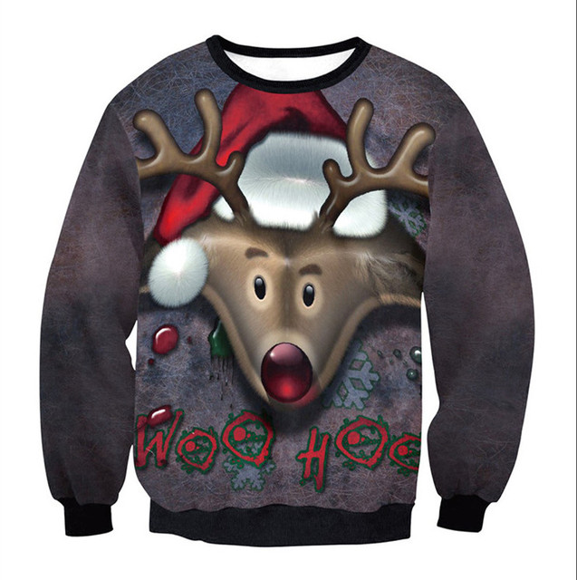 7f473f495f70 3D Printing Men Women ugly Christmas Sweater Vacation Santa Elk Funny  Womens Men Sweaters Tops 2018 Autumn Winter Clothing
