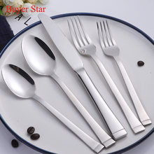 20-piece 18/8 Stainless Steel Luxury Tableware Cutlery Set Silver Dinner Knife Fork Tablespoon Dinnerware Set with Gift Box