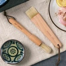 Кухонные масляные щетки, щетка для выпечки, деревянная ручка, гриль для барбекю, Кондитерская щетка, инструменты для выпечки, масло, мед, соус, щетка для выпечки