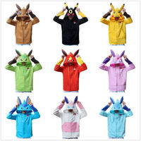 Pokemon Go Pikachiu Ball Winter Warm Coat Sweater Hoodie Thermal Cosplay Cute With Ears For Lovers