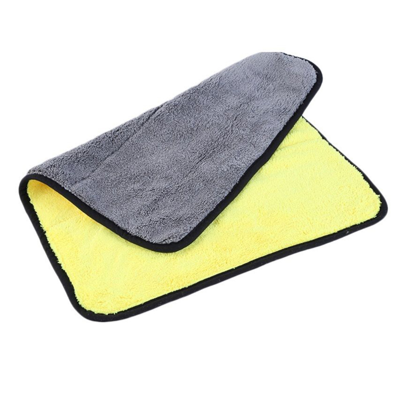 Portable Durable Soft Polyester Yellowu0026Grey Car Cleaning Towel Car Table  Window Mirror Washing Cloth Cleaning Helper 45*38cm