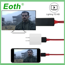 for Lightning 8 Pin Cable HDTV TV Adapter USB HD 1080P mirrorscreen Cable for apple tv compatible for iPhone 7 6S Plus