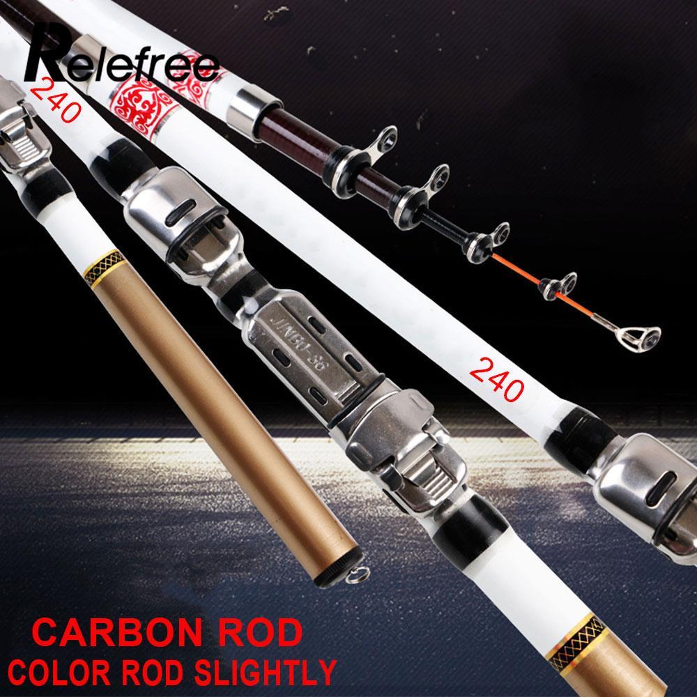 Excellent Fishing Accessory Telescopic Rod Fishing Rod Convenient Flexible Portable Carbon Fiber Professional Colorful