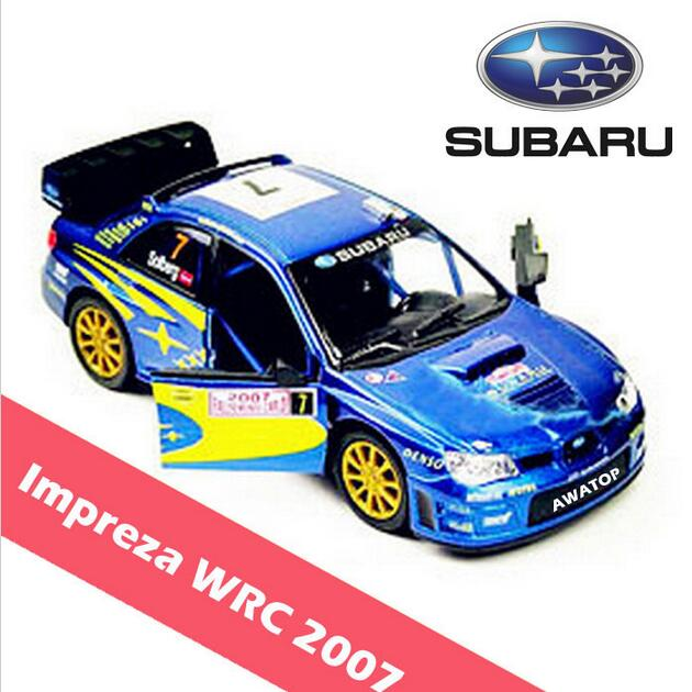 classic toys subaru impreza wrc 2007 alloy diecast models car electric toy cars for kids children