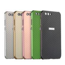 For Asus Zenfone 4 Max ZC554KL Case Aluminum Metal Frame+Carbon Fiber Cover Case for Asus Zenfone 4 Max ZC554KL Shockproof Case цена