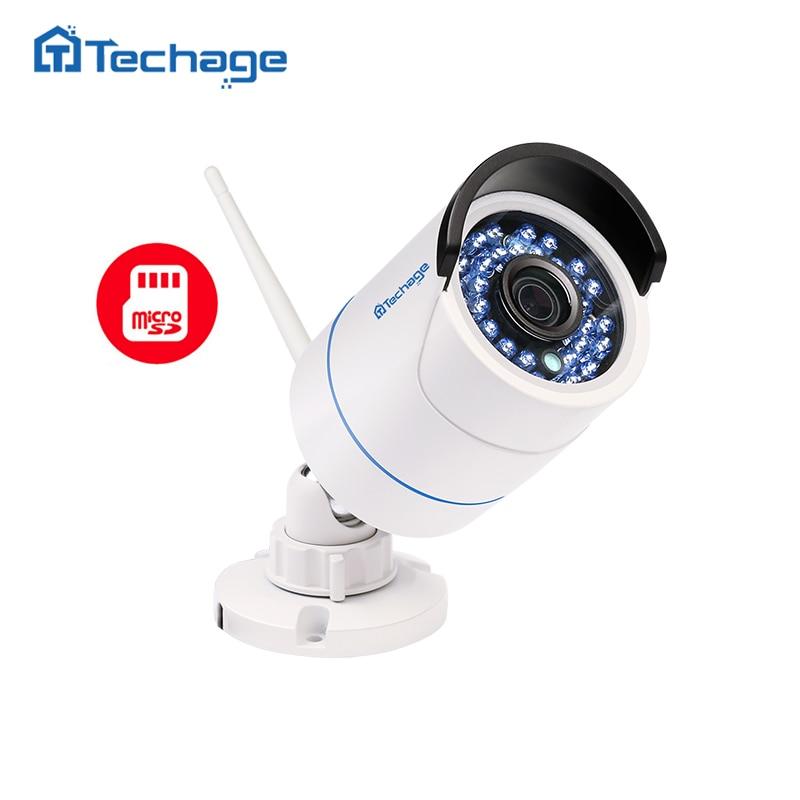 Buy Techage 1080P WIFI IP Camera Waterproof HD Network 2MP Wireless Camera Indoor Outdoor P2P Onvif SD TF Card Cam W/ Power Adapter