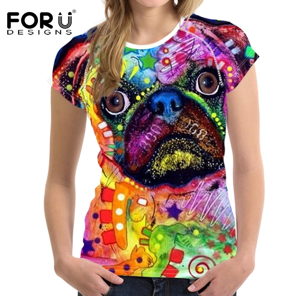 FORUDESIGNS T-Shirt Frauen Top Tees Kleidung Weibliche Mode T-shirt - Damenbekleidung