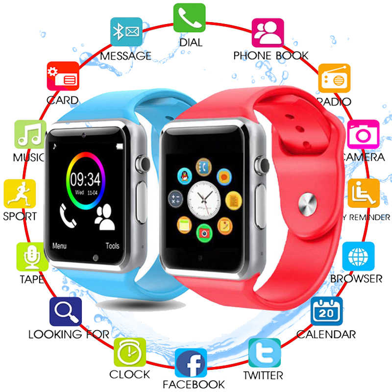 Bluetooth A1 Smart Watch For Children Kids Baby Men Women Sport Wristwatch Support 2G SIM TF Camera Smartwatch For Android Phone