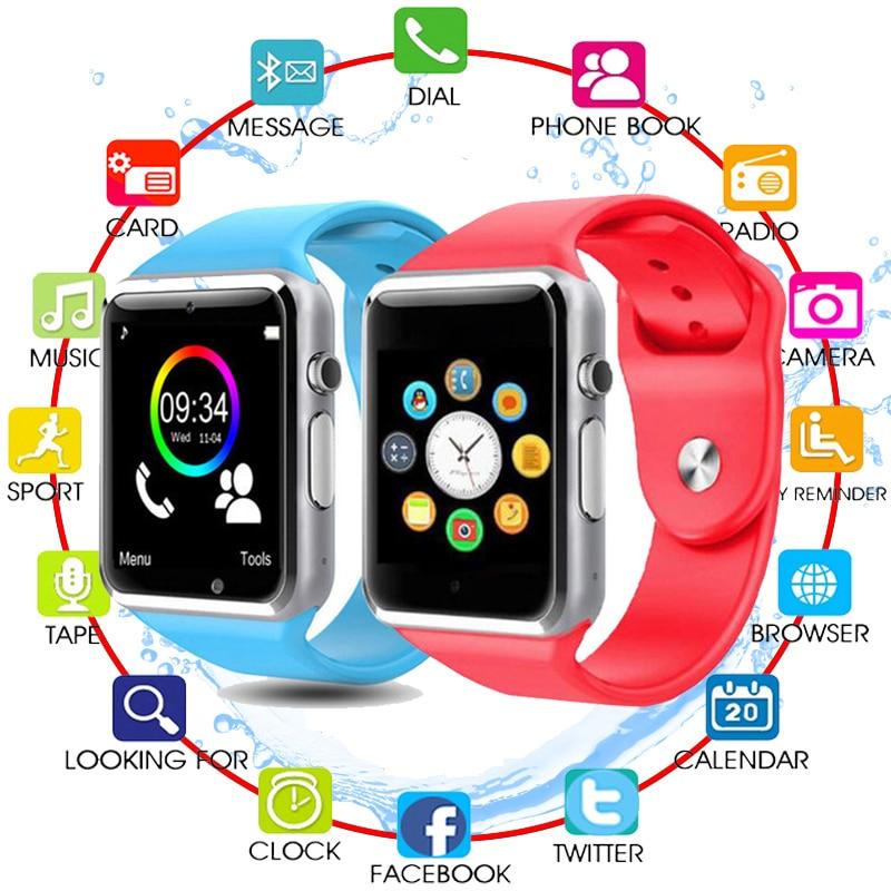 A1 do bluetooth Inteligente Relógio Para Mulheres Dos Homens Do Esporte relógio de Pulso Das Crianças Das Crianças Do Bebê Apoio 2G SIM TF Camera Smartwatch Para android Telefone