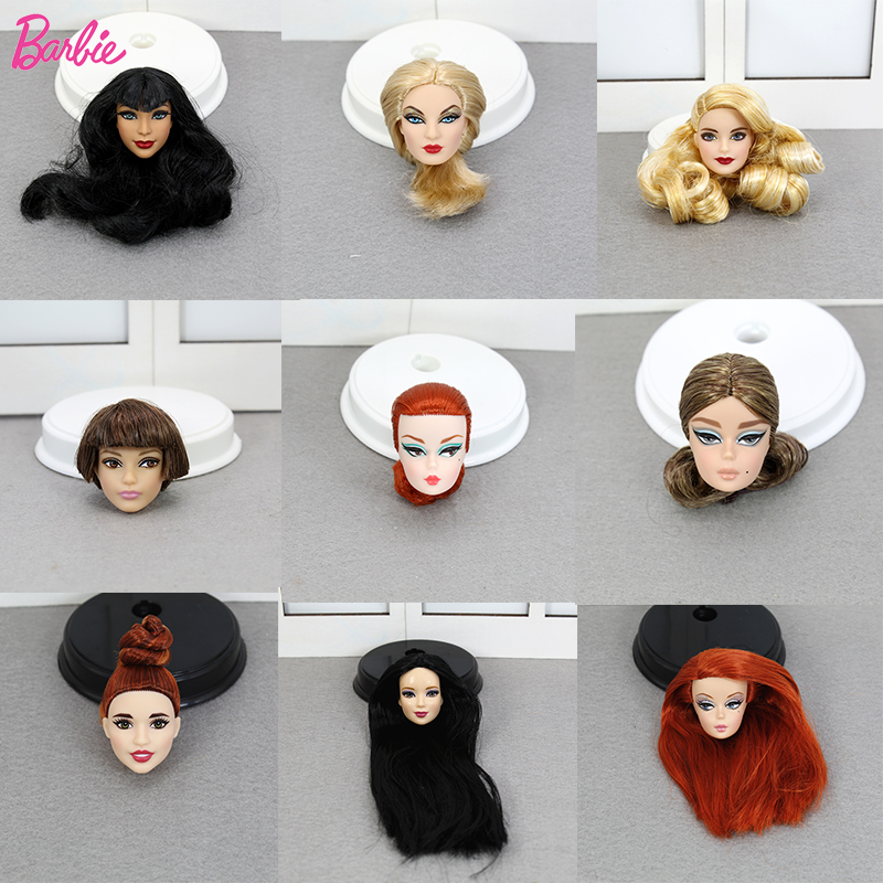 Limited Edition One Pcs Collection Barbie Doll Head Accessories Fashion Hair American Best Girl Doll Gift DIY Toys for Children nk 3 pcs set original fr doll head for fr dolls 2002 limited edition collection curly hair best diy gift for girls doll
