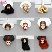 Limited Edition One Pcs Collection Barbie Doll Head Accessories Fashion Hair American Best Girl Doll Gift DIY Toys for Children