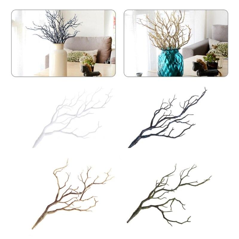 Свадебные украшения павлин коралловые ветви пластиковые искусственные растения сушеное дерево M15