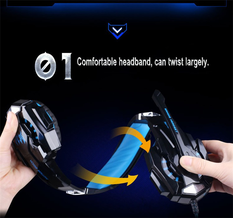 G9000 USB 7.1 Surround Sound Version Game Gaming Headphone Computer Headset Earphone Headband with Microphone LED Light (2)