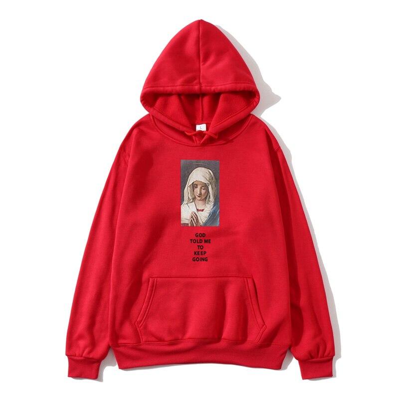 Women 39 s Vulgar Fiction Cotton Fleece Hoodie Sweatshirt 2019 Ms Virgin Mary Mia Wallace Sweatshirt Hoodie Manga Hoodie in Hoodies amp Sweatshirts from Women 39 s Clothing