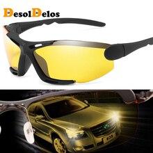 Unisex Night Vision 100% UV400 Polarised Driving Sun Glasses For Men Polarized Stylish Sunglasses Male Goggle Eyewears Gafas knockout polarised sunglasses