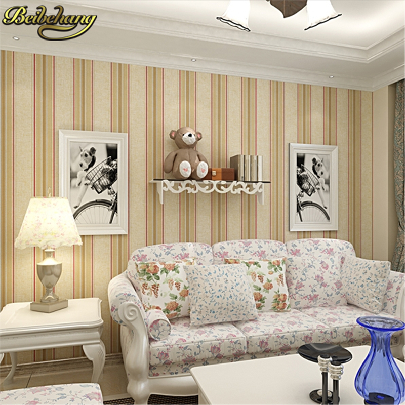 beibehang papel de parede modern wallcovering stripe wall paper glitter non-woven background wallpaper for living room silver living room bedroom wallpaper roll modern solid color non woven thin vertical stripe wall paper mural for walls papel de parede