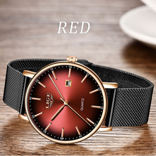 LIGE Fashion Top Brand Luxury Mesh Belt Ultra-thin Watch