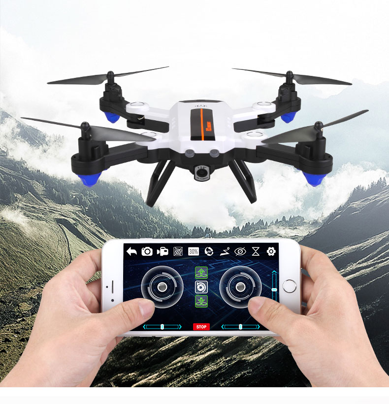 RC Drone Foldable 2.4G 2MP Wide Angle Camera WiFi FPV Optical flow position Altitude Hold Drone Quadcopter Helicopters Toys Gift цена