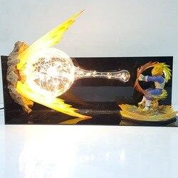 Dragon Ball Z Vegeta Abschluss Flash-Led Nacht Lichter Schreibtisch Lampe Dragon Ball Super Vegeta Led Beleuchtung Lampara Dragon Ball