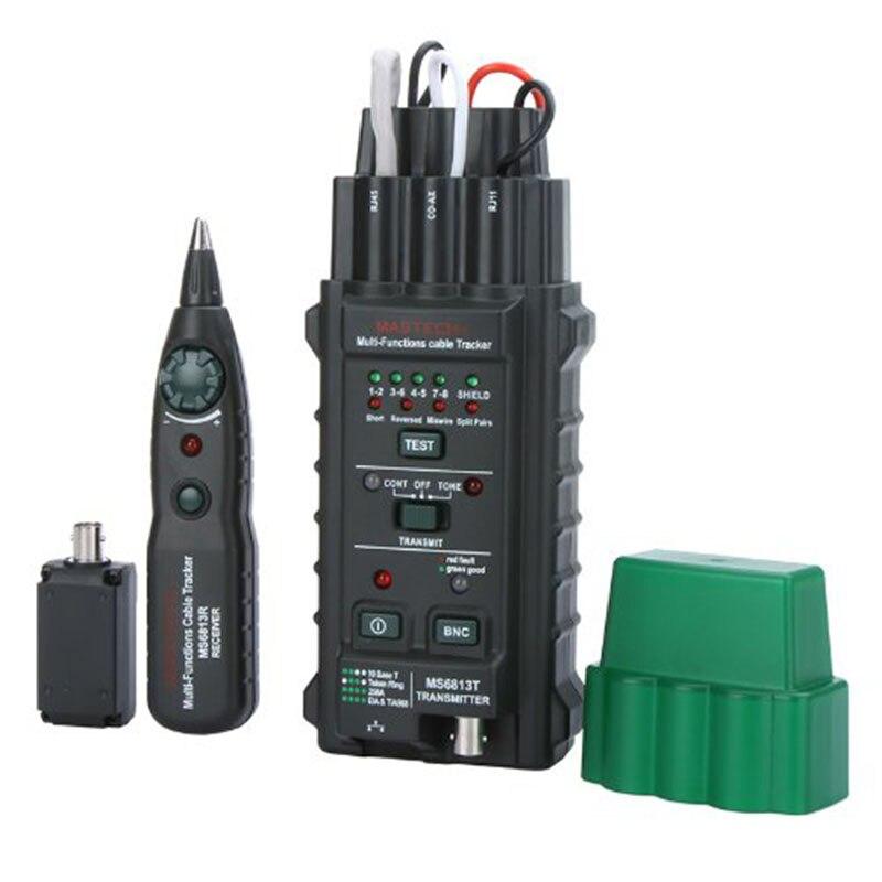 MS6813 testeur de ligne téléphonique pour câble réseau portable Tracker BNC RJ45 RJ11 Cat5 Cat6 LAN testeur de câble