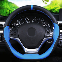 SUNZM High Quality Genuine Leather Sewing Steering Wheel Covers DIY Braid On The Steering Wheel Of