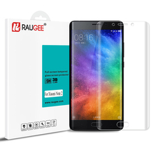 RAUGEE 3D Curved Surface 5.7inch Tempered Glass For Xiaomi Mi Note 2 Smart Phone Anti-explosion Full Cover Screen Protector Film