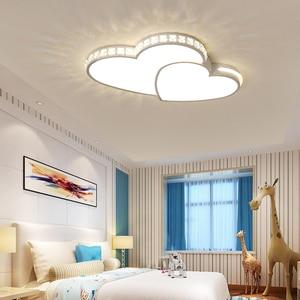 Image 3 - Kristal Modern Led tavan ışıkları oturma odası yatak odası için lamparas de techo colgante moderna avize kristal tavan lambası fikstür