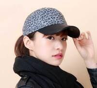 3pcs Lot Fashion Branded Leopard Baseball Caps For Women High Quality PU Brim Strap Back Baseball