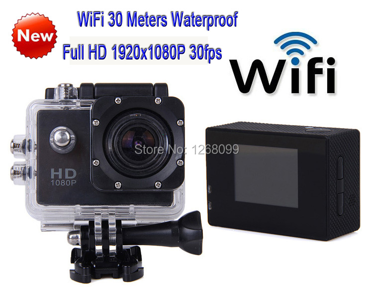 ФОТО 2017 New WiFi Full HD 1920*1080P Helmet Sports a Digital Video Camera Waterproof Camera Free Shipping