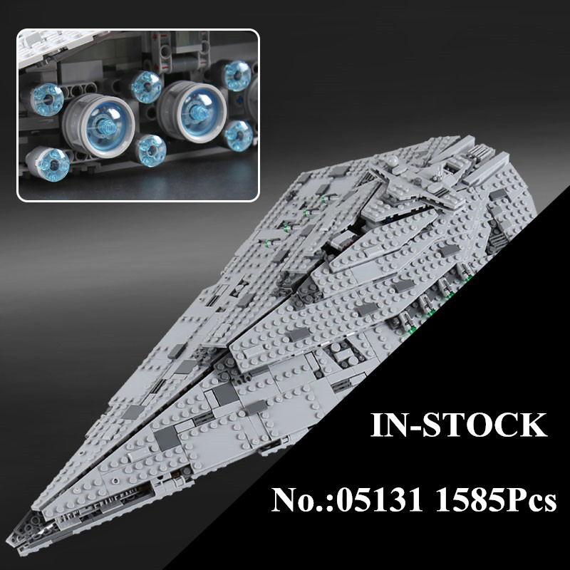 H&HXY 05131 1585Pcs Star Plan Series The First order Star Model Destroyer Set lepin Building Blocks Bricks Educational Toys Gift lepin 02020 965pcs city series the new police station set children educational building blocks bricks toys model for gift 60141