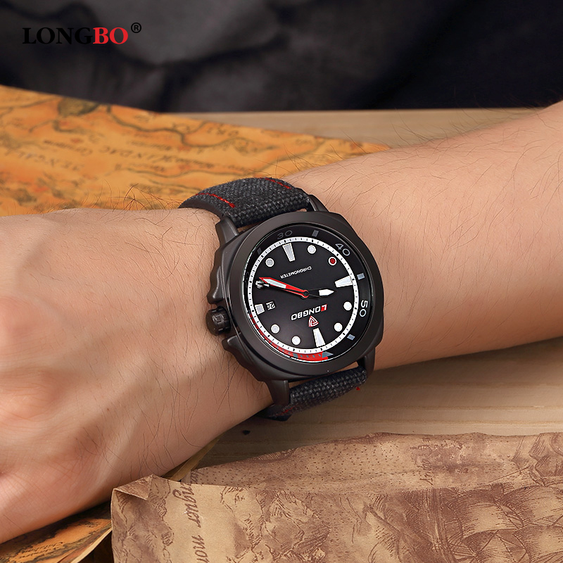 LONGBO Mens Watches Male Clock Wristwatch Leather Quartz Watch Relojes Hombre 2017 Reloj Hodinky Orologio Uomo Horologe 80194