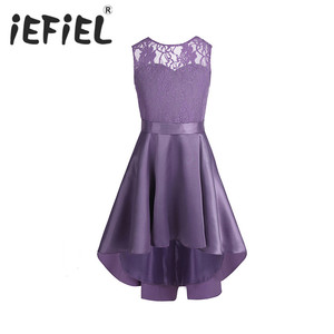 Image 1 - Iefielノースリーブ女の子子供の花のレースチュール用ブライダルウェディングウエディングパーティー日の十代のドレス