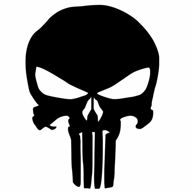 9 514cm ghost ghost rider the punisher car sticker skull funny car styling stickers car