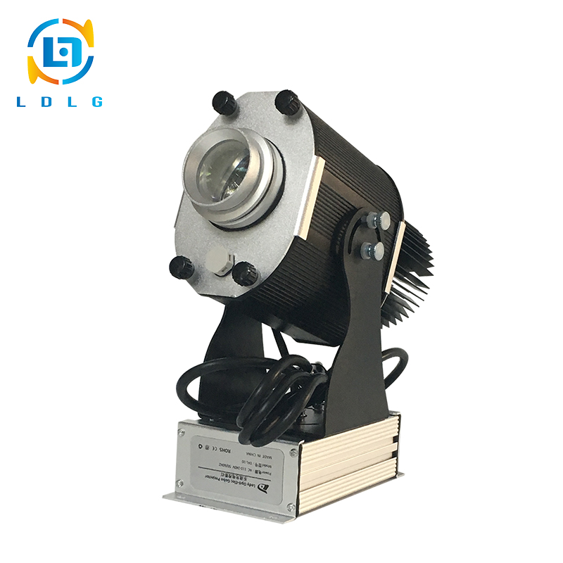 Hot Sale Black Indoor Rotary Christmas Image 30W LED Projector 3100lm LED Gobo Logo Projector Light with Custom Two Colors Gobo