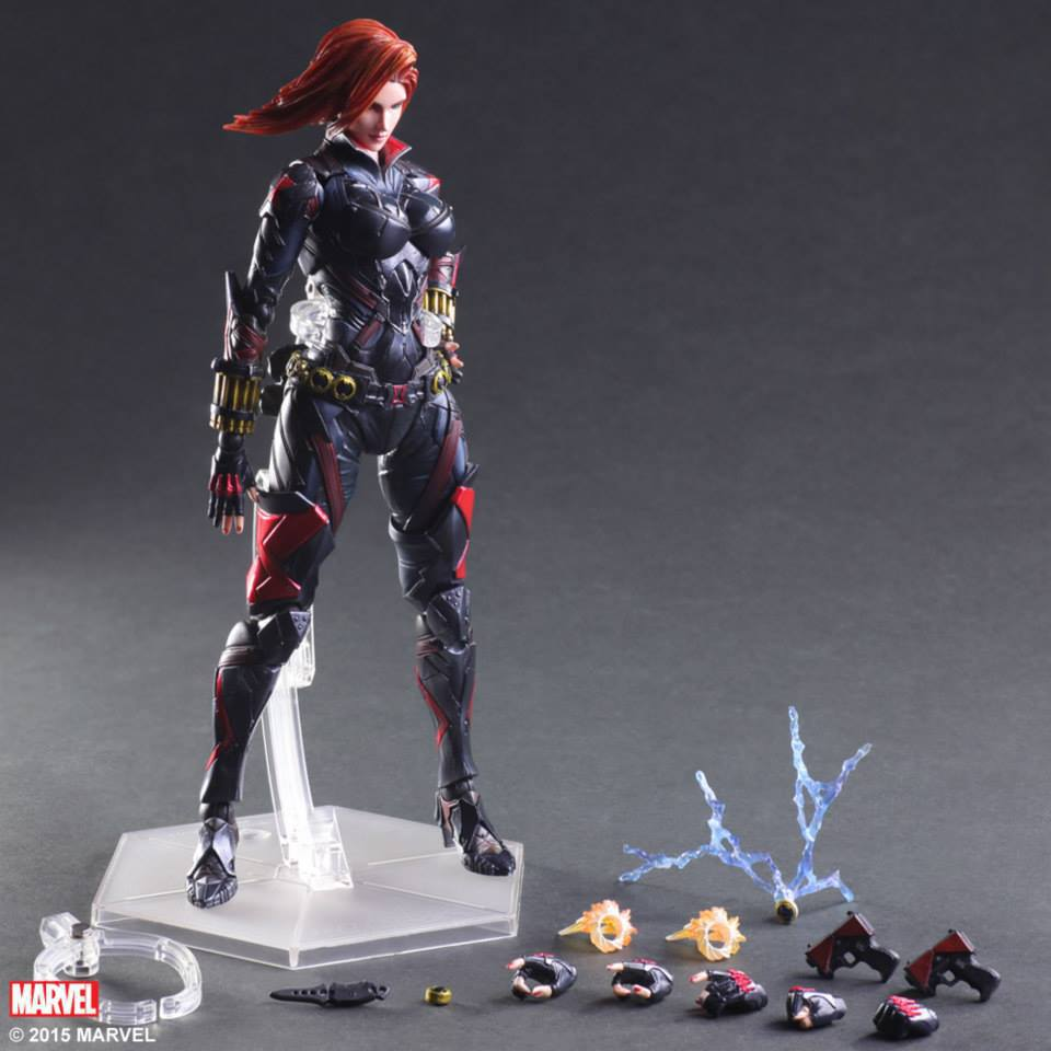 Play Arts Avengers 3 Infinity War Black Widow Action Figures PA Doll Toy 25cm
