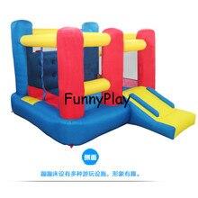 Детский батут с надувным замком, мини батут, дом для прыжков на вечерние мероприятия, специальный подарок для детей, надувной батут, прыжковый замок