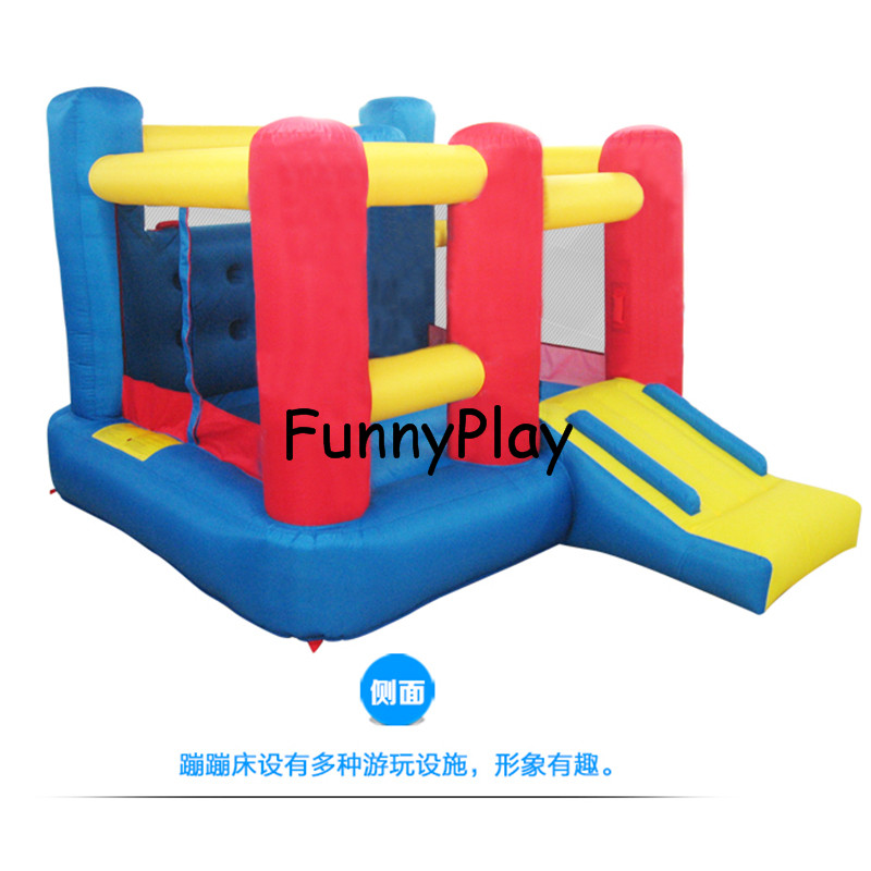 Kids Bouncy Castle Mini Trampoline Bounce House for Party Events Special Gift for Childr ...
