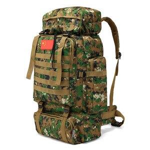 Image 4 - 70L 大容量のバックパック防水ナイロン軍事戦術 Molle 陸軍バッグ男性リュックサックハイキング旅行バックパック