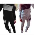 2 Peça Set 2016 Outono Inverno Moda Sportswear Das Mulheres Letra Impressa Fatos De Treino Terno Mulheres Terno Casual Tops + calças Camisolas