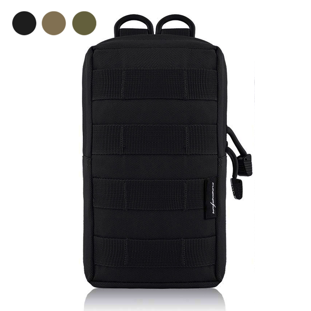 Tactical Pouch Molle EDC Bag Compact Water-Resistant Utility Gadget Hanging Waist Saddlebag for Outdoor Sports gadget