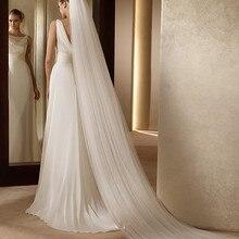 Модные свадебные аксессуары 3 метра 1 слой свадебная вуаль белая слоновая кость простая Фата для невесты с гребнем свадебная вуаль de novia Velo
