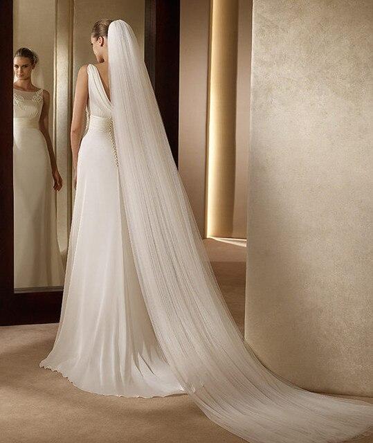 Hotsale Bridal Veil Velos De Novia Ivory Wedding Veil Brief Veu De Noiva