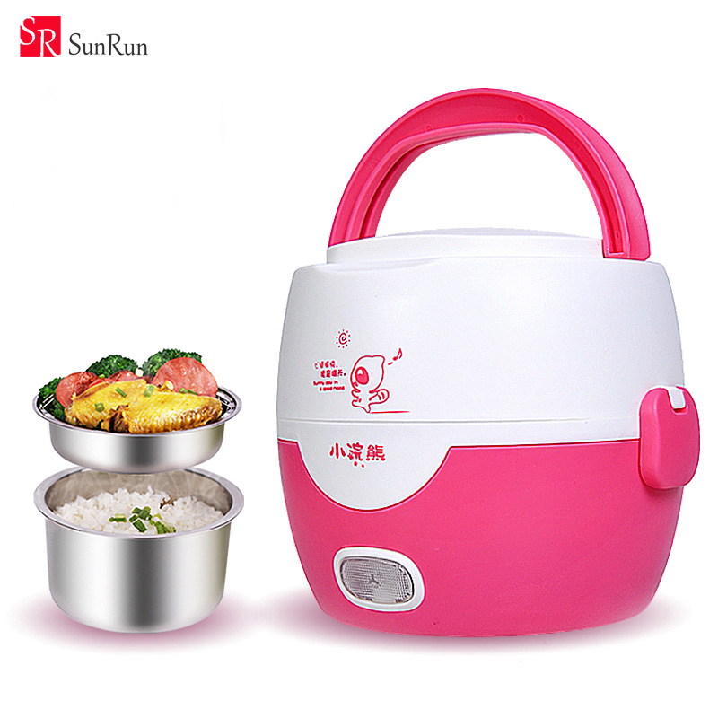 rice and frozen vegetables in rice cooker